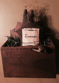 Primitive bunny in a box