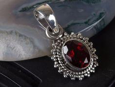 14K Yellow Gold 5mm Heart Garnet bezel pendant 6 mm 6 mm Themed Pendants /& Charms Jewelry