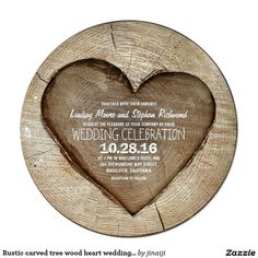 Shop Rustic carved tree wood heart engagement party invitation created by jinaiji. Personalize it with photos & text or purchase as is! Heart Wedding Invitations, Engagement Party Invitations, Rustic Invitations, Bridal Shower Invitations, Dinner Invitations, Invites, Invitation Ideas, Engagement Parties, Engagement Ideas
