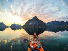 Midnightsun near Reine, Lofoten Islands by Tomasz Furmanek on 500px