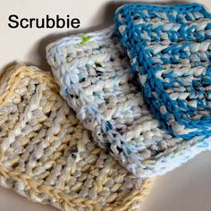 Eco Friendly Scrubbie Sponge Crochet Pattern plarn by crochele, $3.00