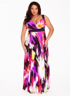 91cc063a9ac IGIGI Women s Plus Size Tropical Beauty Maxi Dress You ll feel as stunning  as you look when you wear this divine and vibrantly colored maxi dress  featuring ...