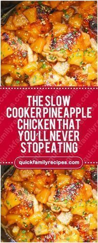 Slow Cooker Pineapple Chicken That You'll Never Stop Eating – Quick Fami. The Slow Cooker Pineapple Chicken That You'll Never Stop Eating – Quick Fami. The Slow Cooker Pineapple Chicken That You'll Never Stop Eating – Quick Fami. Slow Cooked Meals, Crock Pot Slow Cooker, Crock Pot Cooking, Cooking Recipes, Healthy Recipes, Slow Cooker Meals Healthy, Slow Cook Chicken Recipes, Crockpot Chicken Meals, Crock Pots