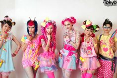 Harajuku Girls - This year Japanese fashion brand celebrates its anniversary. To commemorate fifteen years of kawaii fashion. Japanese Street Fashion, Tokyo Fashion, Harajuku Fashion, Kawaii Fashion, Pink Fashion, Cute Fashion, Fashion Brand, Fashion Design, Women's Fashion