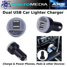 Car Dual USB Lighter Adapter #PowerCharge