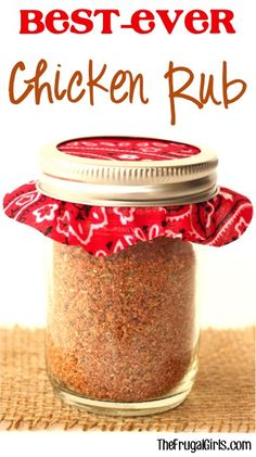 """If you are looking for the only dry rub you'll ever need check out this Chicken Dry Rub Recipe! Use this on your chicken before grilling or baking ... it's the Best!"""