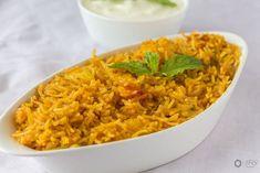 Aloo-Tamatar ka Pulao - Kali Mirch - by Smita Indian Veg Recipes, Ethnic Recipes, How To Cook Potatoes, Lunch Box Recipes, Biryani, Garam Masala, One Pot Meals, Vegan Gluten Free, Rice