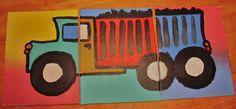 """Boys' nursery/bedroom Truck"" acrylics on canvas. 3(11"" x14"")"