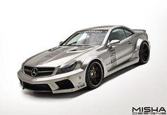 Mercedes-SL-wide-body-kit-silver-1