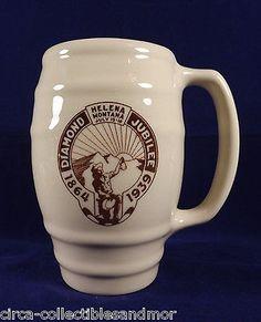 Helena Montana Diamond Jubilee 1864-1939 Commemorative Mug Shenango China Vtg