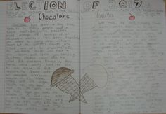 8th grader, Claire, inspired by my fake notebook election, has decided to create a notebook campaign between chocolate and vanilla ice cream.