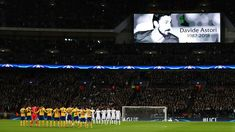 Tottenham Hotspur and Juventus players observe a minute of silence in memory of Fiorentina player Davide Astori prior to the the UEFA Champions League Round of 16 Second Leg match between Tottenham Hotspur and Juventus at Wembley Stadium on March 7, 2018 in London, United Kingdom. - 29 of 110