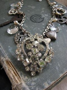 Recycled antique & costume jewelry