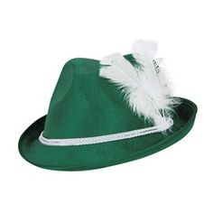 This Forest Green Vel-Felt Alpine is one of our deluxe Oktoberfest hats. This felt bavarian hat looks great as part of an Oktoberfest costume or combine it with our lederhosen vest to create and instant Oktoberfest outfit.