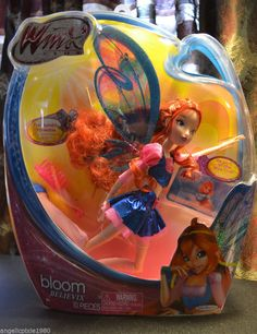 """Winx 11.5"""" Believix ~ Bloom fairy of the Dragons Flame Free Shipping NIB"""