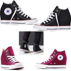 #Converse#midluxallstar SCARPE CONVERSE MID LUX ALL STAR CHUCK TAYLOR SNEAKERS ALTE DONNA ZEPPA INTERNA www.tendencetime.com
