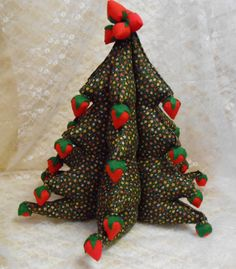 Vintage Stuffed Fabric Christmas Tree with by thebombshelter1, $24.95