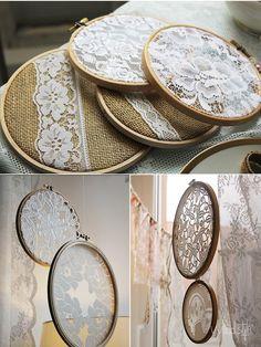 Vintage-Hochzeit Stickrahmen