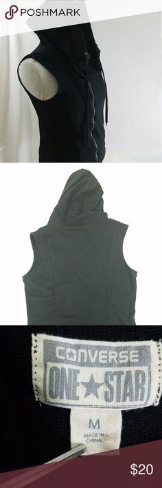 Converse Women's Sleeveless Hoodie hoodie Converse Tops Sweatshirts & Hoodies