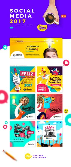 Artes para redes Sociales, realizados para Abarka Casa Publicitaria, Sincelejo Sucre Colombia.