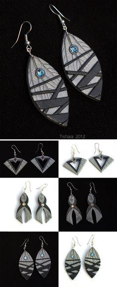 Asari Earrings by *tishaia on deviantART