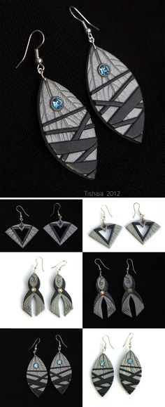 Asari Earrings by tishaia.deviantart.com on UU.@deviantART