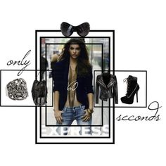 Only 60 seconds Polyvore Fashion, Steve Madden, Alexander Mcqueen, Fashion Boards, Leather Jacket, Shoe Bag, Stuff To Buy, Shopping, Collection