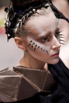 Roshar  | Backstage at Lisa Yamasaki show #makeup #art