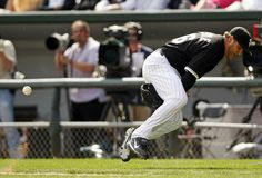 Mark Buehrle with his flip between the legs to 1st on opening day