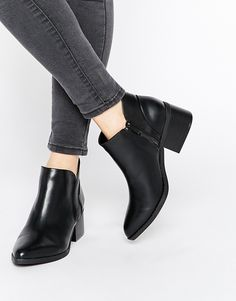 1ec5d3c9bce5 Call it SPRING Adraun Black Pointed Block Heel Ankle Boots - ShopStyle Women