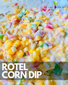 Corn Dip Recipes, Side Dish Recipes, Mexican Food Recipes, Appetizer Dips, Yummy Appetizers, Appetizer Recipes, Italian Appetizers, Hot Corn Dip, Tailgate Food