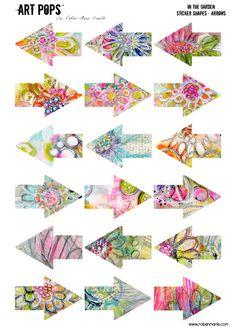 ART POPS� Sticker Arrows - In the Garden Collection