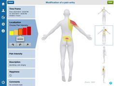 """Medical experts recommend you keep a pain diary in order to be able to treat pain effectively. Use CatchMyPain app to create detailed color pain drawings to express the location and the intensity of your pain. Track events or circumstances which increase or ease your pain...""""This looks like great aid in #PainManagement #pain #app #health"""