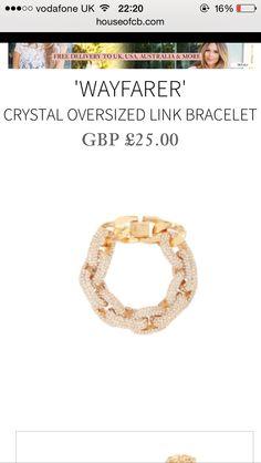 Bracelet is gorge! Link Bracelets, Wish, Wayfarer, Fitbit, Crystals, Crystal, Crystals Minerals