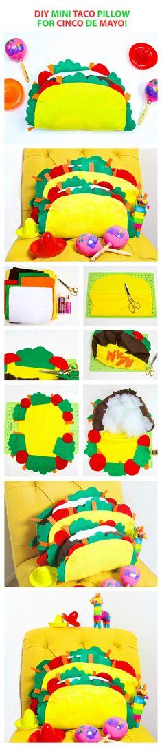 Celebrate Cinco De Mayo with a DIY Taco Pillow! | Cinco De Mayo Projects | Taco Projects | DIY from Vanessa Diaz