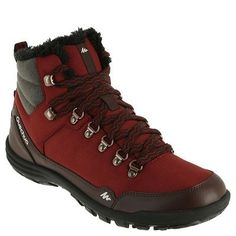 Hiking shoes Ski and Snowboard - Arpenaz 100 Warm Women's Snow Boots - Burgundy QUECHUA - Ski Footwear and Headwear