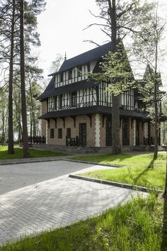 stylish house in the forest area