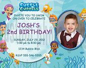 Bubble Guppies Invitation Personalized Birthday Digital File. $6.00, via Etsy.