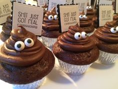 "The cupcakes that I made for my Son's high school graduation using the ""Just Stinkin' Cute"" stamp set from Unity Stamp Company! #shitjustgotreal Check out my fb page @ Chick with a Gluestick."