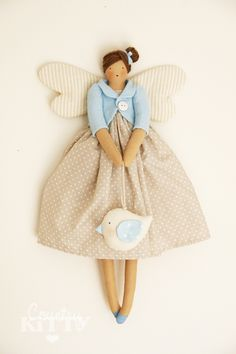 tilda angel doll by countrykitty Diy Gifts For Kids, Diy For Kids, Softies, Homemade Christmas Decorations, How To Make Toys, Sewing Dolls, Fairy Dolls, Soft Dolls, Diy Doll