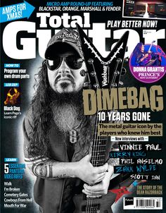 Total Guitar 261. We pay tribute to the greatest metal guitarist of a generation with all-new interviews from Dime's cohorts and collaborators, a toast to the mighty Dean Razorback and five Dime riffs to learn!