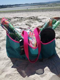 Sac de Plage et Coquillages dans Idées à Faire Magazine ⋆ Les Tutos Couture de Viny - Blog de Couture et DIY Blog Couture, Gym Bag, Bags, Magazine, Diy, Beach Games, Making Purses, Sea Shells, Handbags