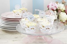 Let your guests enjoy your wedding desserts, cupcakes, cakepops and canapés in style with our Vintage Cupcake Toppers and our range of ditsy chic, vintage and floral wedding accessories.Vintage Cupcake Toppers - Make sure your cupcakes are as well dressed Cupcake Flags, Cupcake Picks, Cupcake Party, Cupcake Toppers, Cupcake Liners, Vintage Cupcake, Lace Cupcakes, Wedding Cupcakes, White Cupcakes
