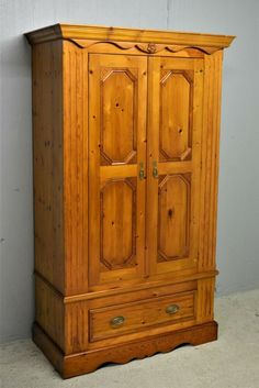 Solid Pine Wardrobe with Drawer Vintage Quality Clean Delivery Available