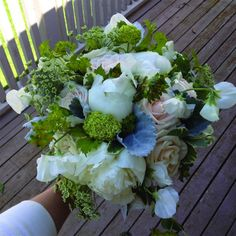 late spring white and green bouquet. Sweet Peas, Bridal Bouquets, Peonies, Roses, Spring, Floral, Green, Wedding Bouquets, Pink