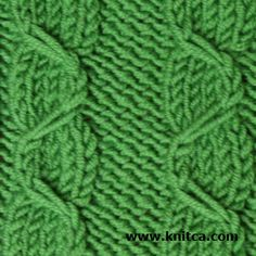 Right side of knitting stitch pattern – Cable 2