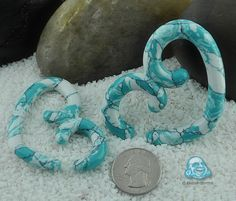 Ocean wave synthetic turquoise heart of stone