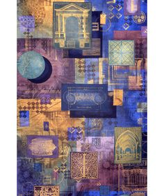 MAFCO, Abu Dhabi, Painted & Printed Silk Hanging, 135x230cm