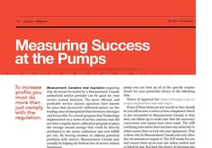 Measuring sucdess at the pumps.