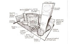 Pencil sketches & Graphic Design as part of the overall scheme. Exhibition Design & Visuals in Studio … Exhibition Booth Design, Exhibition Display, Exhibition Stands, Interior Design Sketches, Sketch Design, Conceptual Sketches, Print Layout, Hand Sketch, Display Design